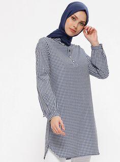 0fa2fda2c1660 Muslim Fashion, Point Collar, Navy Blue, Moslem Fashion