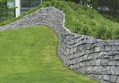 Not your usual retaining wall. I want one!