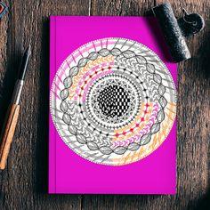 Colourful Geometric Mandala Notebook | Artist : Amulya Jayapal | PosterGully