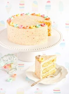 Candy Cake With Candy Frosting