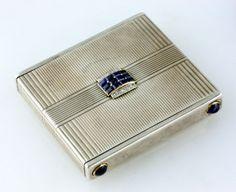 CHAUMET PARIS, A fine Art Deco sapphire diamond and silver compact, circa 1930 - Selected Fine Jewellery - 10 - 15 June 2011 - Auction Atrium
