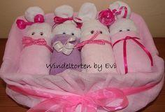 Pastel Windelbabys in Box, Windeltorte! - ein Designerstück von Windeltorten-by-Evi