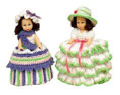 7243 PDF Crochet Toilet Paper Doll Cover Ann & Patricia