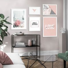 Frame Wall Decor, Frames On Wall, Living Room Decor, Bedroom Decor, Cute Room Decor, Dream Rooms, White Decor, New Room, Modern Bedroom