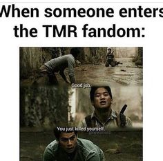 Fandom • The Maze Runner>>>>> One of my friends just started reading the books and I am so going to tell them this