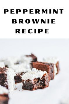 Chocolate Brownie Cake, Brownie Frosting, Peppermint Chocolate, Peppermint Brownies, Chocolate Treats, Chocolate Frosting, Melting Chocolate, Brownie Recipes, Cake Recipes