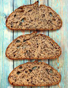 Vadkovászsuli: Gigamagos, lenmagos kovászos kenyér Sourdough Bread, Cooking, Healthy, Food, Yeast Bread, Kitchen, Eten, Meals, Cuisine