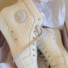 White Converse inspired Louboutin sneaker