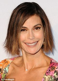Teri's hatchet-bob: Miss Hatcher chops off her long locks in favour of a blunt new look post-Desperate Housewives
