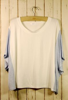 Chicwish Patch Color Dolman Sleeves Oversize T-Shirt