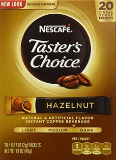 Nescafe Tasters Choice Instant Coffee Hazelnut 20Count Sticks 14oz Box Pack of 4 *** You can get additional details at the image link. (This is an affiliate link and I receive a commission for the sales)
