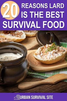 There are many great survival foods, but lard is the best because not only is it calorically dense, you can use it for all sorts of other things.
