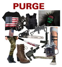 """""""Purge"""" by ale072305 ❤ liked on Polyvore featuring Chicnova Fashion, Swat, American Rag Cie, Craftsman, 1928 and Aspinal of London"""