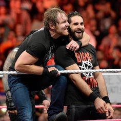 wwe @wwerollins and #DeanAmbrose: Friends. #RAW #TagTeamChampions. Brothers.  2017/10/12 08:10:38