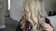 10 minute loose curls! Love her tutorials! Must pin this one.