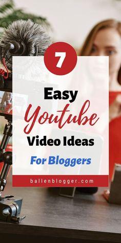 7 Youtube Video Ideas #YouTube #videos #marketingvideo #videomarketing #bloggingtips #bloggers #vlogs Digital Marketing Strategy, Marketing Videos, Music Visualization, Make Money Blogging, Blogging Ideas, Easy Youtube, Promote Your Business, Management Tips, Blogging For Beginners