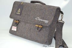 Harris Tweed Business personalisierte Logo Aktenkoffer Stil Laptop Messenger Tasche