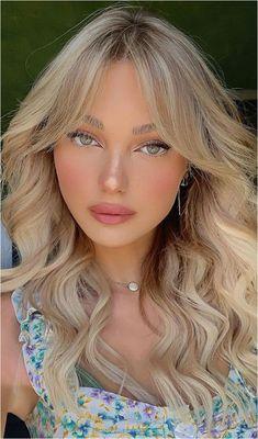 Layered Hair With Bangs, Bangs With Medium Hair, Long Layered Hair, Long Hair Cuts, Medium Hair Styles, Curly Hair Styles, Bangs For Long Hair, Straight Hair, Blonde Bangs