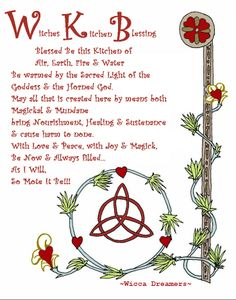 Kitchen Witchery:  #Witch's #Kitchen Blessing.