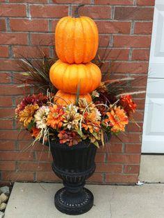 Pumpkin Urns   DIY Fall Decor Ideas for the Home