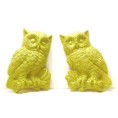 vintage owl wall hangings  //  kitsch housewares by nashpop, $24.00