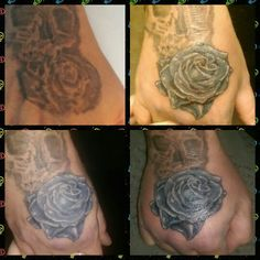 Rose tattoo cover-up