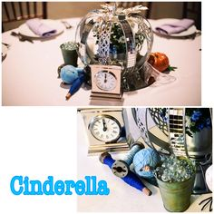 Disney CINDERELLA Wedding Centerpiece Disney Centerpieces, Wedding Centerpieces, Cinderella Wedding, Wedding Bouquets, Wedding Centrepieces