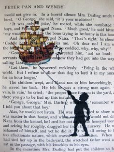 Peter Pan Book Page Print    I love this.
