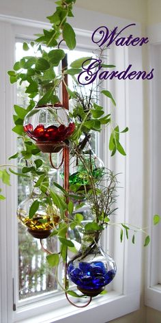Handcrafted In Our Vermont Shop See All Of Our Hanging Water Gardens At Www