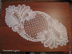 Поделка изделие Плетение на коклюшках Елецкая салфетка Нитки фото 1