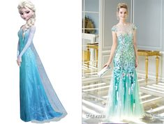 Frozen Disney Inspired Prom Dresses | Elsa prom dress
