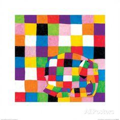 Elmer, Squares Prints by David Mckee - at AllPosters.com.au