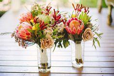 Wedding table decorations - Australian Native Flowers