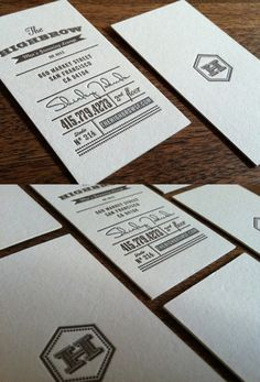 Crisp typography with a single-weight script and letterpress equals simple perfection.