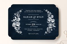 Sun Bleached Florals Wedding Invitations by Jennifer Wick at minted.com