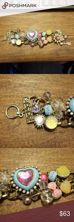 EUC, Betsey Johnson Candyland Bracelet EUC, Betsey Johnson Candyland Bracelet, Gold tone, all pieces intact. Betsey Johnson Jewelry Bracelets