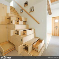Awesome Stairs Design Home. Now we talk about stairs design ideas for home. In a basic sense, there are stairs to connect the floors Space Saving Furniture, Smart Furniture, Furniture Ideas, Compact Furniture, Bedroom Furniture, Furniture Design, Apartment Furniture, Furniture Storage, Furniture Online