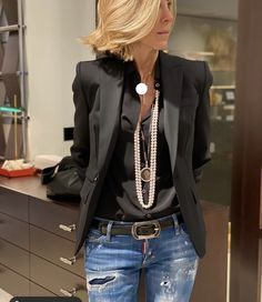 Fashion Mode, Fashion Over 50, Work Fashion, Denim Fashion, Fashion Outfits, Womens Fashion, Mode Outfits, Stylish Outfits, Fall Outfits