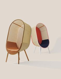 The cozy Cocoon lounge chair designed by Kevin Hviid and Martin Kechayas. Eames Rocking Chair, Rocking Chair Nursery, Bedroom Chair, Swinging Chair, Blue Dining Room Chairs, Accent Chairs For Living Room, Lounge Chairs, Bar Chairs, Swing Chairs