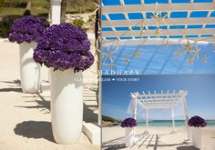 Celebra tu boda con nosotros en Jamaica/Celebrate your wedding with us in Jamaica.Waves of Love Package combines the glamour of hydrangeas and irises with the maritime serenity of shells and starfish. Designed by renowned wedding planner Karen Bussen exclusively for ‪#‎WeddingsbyPalladium‬