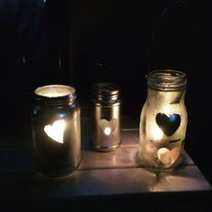 My pretty jam jar candel holders x