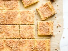 These Sugar Cookie Cheesecake Bars combine sweet sugar cookies with creamy cheesecake for the ultimate dessert. Gooey Butter Cookies, Toffee Cookies, Easy Sugar Cookies, Candy Cookies, Sugar Cookie Cheesecake, Cheesecake Bars, Cheesecake Recipes, Low Fat Cream Cheese, Lemon Dessert Recipes
