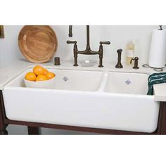 Vintage Tub U0026 Bath Kitchen Sink   Shaws Rutherford Apron Front Fireclay Sink  1 1/