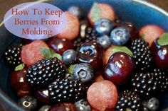A tip on how to keep berries fresh longer and prevent molding. This tip will save you money and also make your berries stay fresh for much longer!