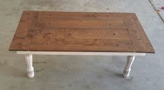 Mini Rustic/Farmhouse Barndoor Coffee Table by BevelLabel on Etsy -- $193