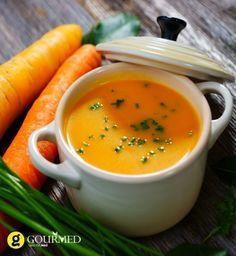 Βελούδινη Καροτόσουπα με τζίντζερ και γιαούρτι - gourmed.gr