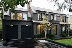 45 First Street Oakville cars homes house Black House Exterior, Grey Exterior, Cottage Exterior, Modern Farmhouse Exterior, House Paint Exterior, Exterior Siding, Exterior House Colors, Exterior Design, Grey Siding