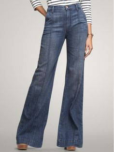 wide leg, and high enough waist to prevent the dreaded muffin top? they are my dream jeans.