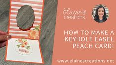 Learn how to make this cute card with Stampin' Up!'s Sweet as a Peach stamp set and Peach Dies in this video tutorial! Fun Fold Cards, Cute Cards, All Paper, Stampin Up, Card Making, Reusable Tote Bags, Peach, Paper Crafts, Sweet
