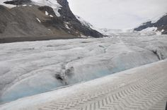 Exploring the surface of the Athabasca Glacier ~ Canada